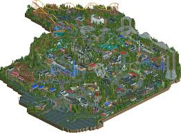 Six Flags America Map by New Element Park Six Flags Great North