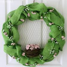 burlap wreath tutorial pretty spring door decor