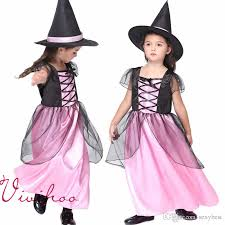Witch Halloween Costumes Kids Kids Fairy Cosplay Costumes Girls Pink Gauze Dresses