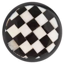 kitchen cabinet knobs black and white black white checkered knob hobby lobby 450304