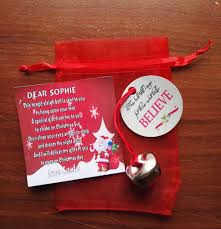 express inspired sleigh bell gift from santa with personalised poem
