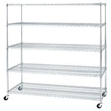 Home Depot Heavy Duty Shelving by Hdx 5 Shelf Steel Storage Unit In Chrome 21656cps The Home Depot