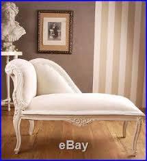 canapé récamier canapé récamier baroque shabby chic blanc chaise longue chaises