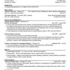 chronological resume writer