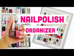 diy crafts how to make a nail polish organizer youtube