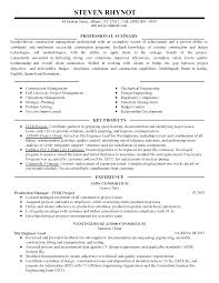 Resume Sample For Production Manager Transform Production Manager Resume About Film Resume Format