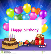 Birthday Card Happy Birthday Card Vector Stock Vector Image 17783170