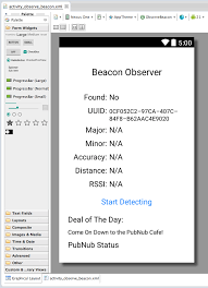 android beacon how to build an android beacon ibeacon detector 2 3 pubnub