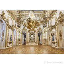 wedding backdrop gold luxury palace chandelier photography backdrops gold carvings on