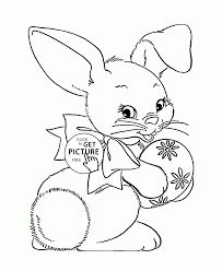 fluffy easter bunny coloring page for kids coloring pages