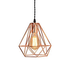 Cage Pendant Light Efinehome Vintage Industrial Rose Gold Pyramid Metal Cage Pendant
