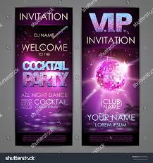 set disco background banners cocktail party stock vector 635399342
