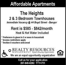2 Bedroom Apartments In Bangor Maine Bangor Daily News Classifieds Rentals