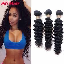 8a malaysian curly weave 3 bundles deep wave malaysian virgin