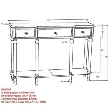 Silver Console Table Console Table In Silver