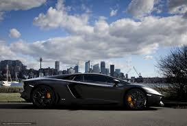lamborghini aventador matte black wallpaper wallpapers city embankment shadow sky clouds 570790 section