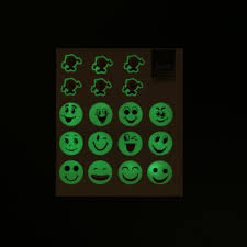 1pc home decor glow in the dark emoji smiley face wall stickers