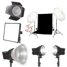 three point lighting setup kit india