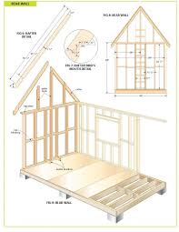 free cottage bunkie cabin plans house plan storage shed 12x12 best