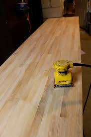 how to finish ikea butcher block countertops weekend craft sanding butcher block