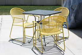 DIY Patio Furniture Redo Bright Bold And Beautiful - Yellow patio furniture