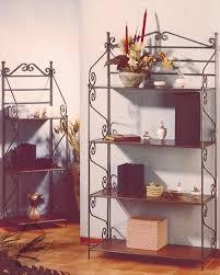 etagere legno etagere libreria scaffale in ferro battuto con ripiani in legno