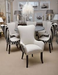 dining room excellent zebra dining room chairs installed in