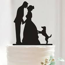 dog cake topper pretty and groom dog cake toppers wedding
