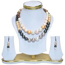 fashion jewellery necklace sets images Shining shell pearls fashion jewellery necklace set selfmart jpg