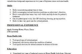 Sample Resume Home Health Aide by Home Health Aide Resume Sample Home Health Care Aide Resume