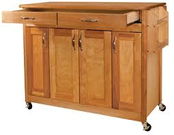 catskill craftsmen butcher block island with flat panel doors