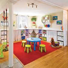 salle de jeu multicolore rangement inspirations décoration