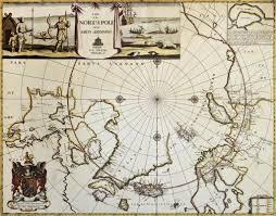 North Pole Map North Pole Old Map U2014 Stock Photo Marzolino 13290850