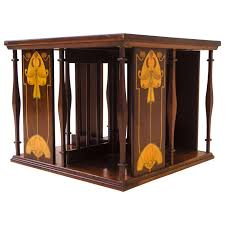 Revolving Bookcase Table Arts And Crafts Mahogany Revolving Bookcase By Shapland And Petter