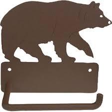 black bear towel bar and bath accessories