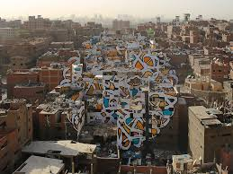 an artist turned 50 buildings in cairo into a giant mural an artist turned 50 buildings in cairo into a giant mural business insider