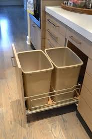 Kitchen Garbage Cabinet Pull Out Garbage Can Container Pull Out Double Recycling 35 Quart