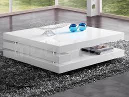 table basse antonio carrée blanc laqué chez mobistoxx