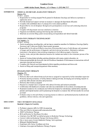 resume exles for therapist radiation therapy resume sles velvet