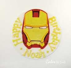 cool iron man cake topper between the pages
