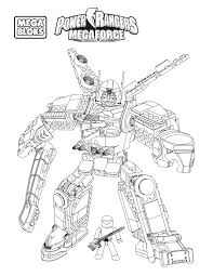 power rangers megaforce coloring pages getcoloringpages com