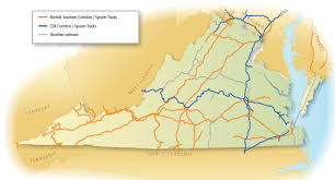csx railroad map railroads of virginia