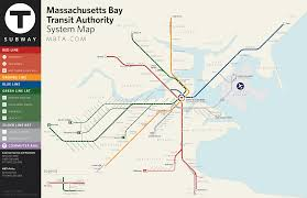 Chicago Transit Authority Map by Boston Public Transportation Blues Icosystem Boston Wikitravel