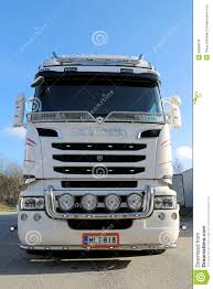 scania truck front view of white scania truck editorial photo image 39396076