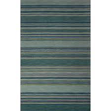 Modern Stripe Rug Jaipur Coastal Dunes Modern Stripe Rug In Jetty Blue Bed Bath