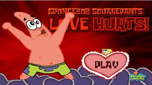spongebob squarepants valentines day game movie love hurts