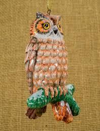 owl ornament vintage ornament owl ceramic by annaluningiftshop