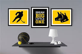 hockey nursery decor hockey bedroom wall art game room