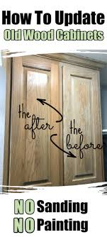 what to use to paint cabinets without sanding how to make oak cabinets look new again no sanding or painting