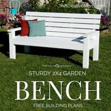 diy sturdy garden bench free building plans farmhouse design